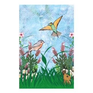 Birds And Floral 14 Cm X 21.5 Cm Flyer
