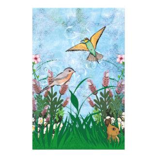 Birds And Floral 14 Cm X 21.5 Cm Flyer