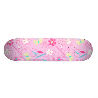 Birds and flowers 21.3 cm mini skateboard deck