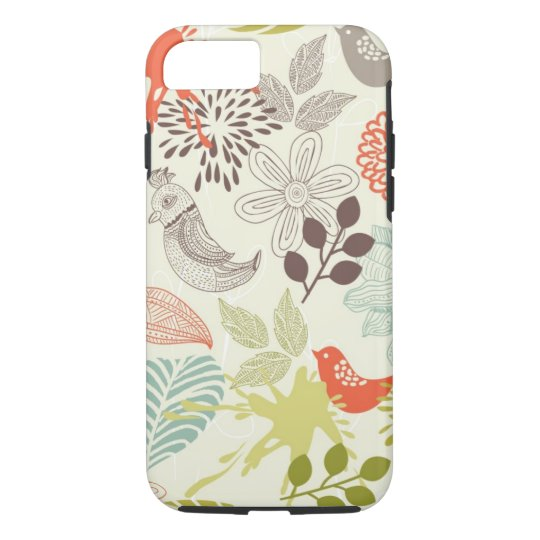 birds and flowers iPhone 8/7 case