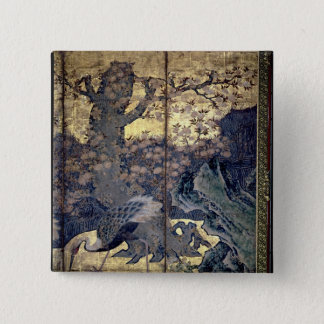 Birds and Flowers of the Four Seasons 15 Cm Square Badge