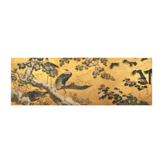Birds and Flowers of the Four Seasons Canvas Print