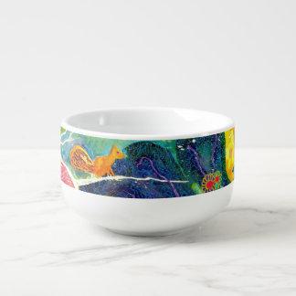 Birds and Flowers. Soup Mug