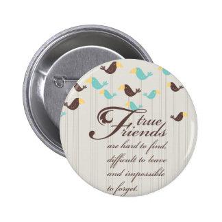 Birds and Friends 6 Cm Round Badge