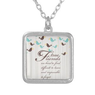 Birds and Friends Silver Plated Necklace