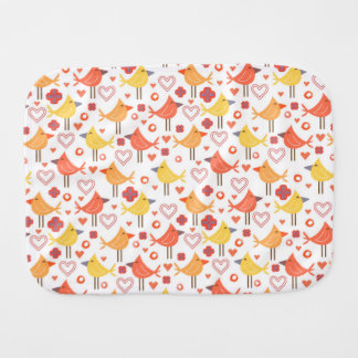 Birds and Hearts Burp Cloth
