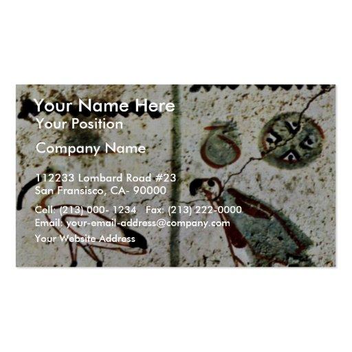 Birds And Hieroglyphs By Maler Der Grabkammer Des Business Card Templates