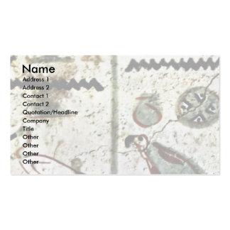 Birds And Hieroglyphs By Maler Der Grabkammer Des Double-Sided Standard Business Cards (Pack Of 100)