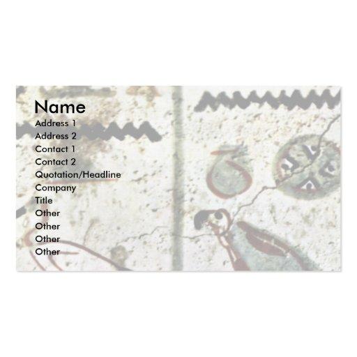 Birds And Hieroglyphs By Maler Der Grabkammer Des Business Card Template