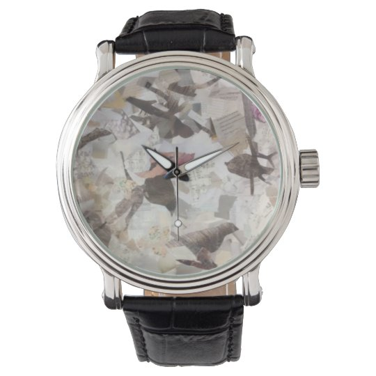Birds and Music Notes Collage Watch