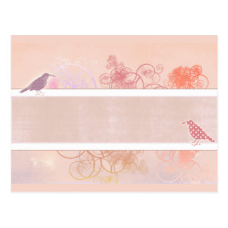 Birds and swirls - personalize your own design postcard