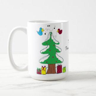 Birds and Tree Baby's First Christmas Coffee Mugs