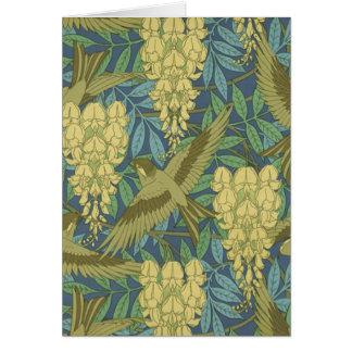 Birds and Wisteria Card