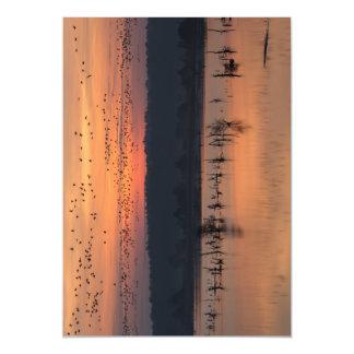 Birds at sunrise magnetic invitations