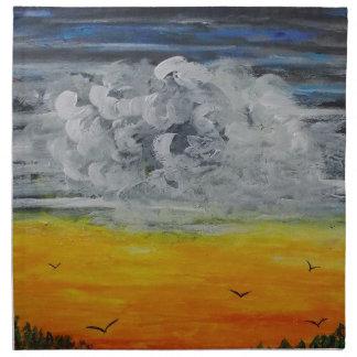 Birds at sunrise napkins