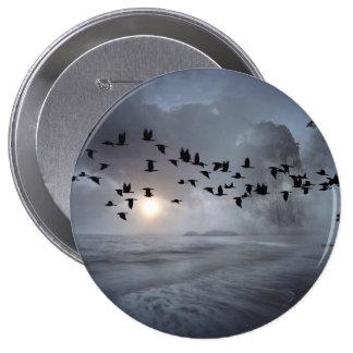 birds 10 cm round badge