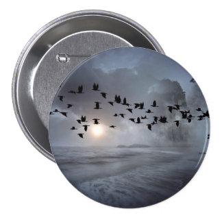birds 7.5 cm round badge