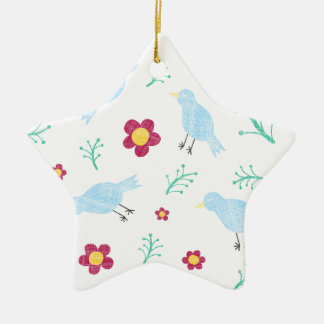 Birds & Blooms Christmas Ornament