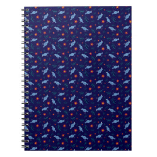 Birds & Blooms on Navy Notebooks