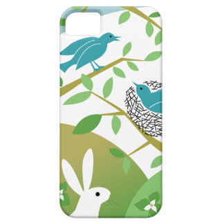 Birds & Bunny Spring iPhone Case