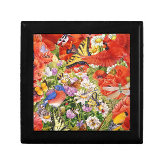 Birds, Butterflies and Bees Tile Small Square Gift Box