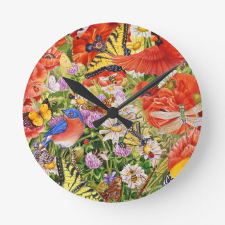 Birds, Butterflies and Bees Wall Clock