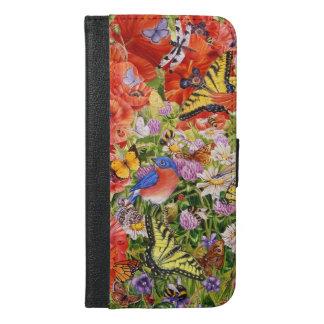 Birds,Butterflies iPhone 6/6S Plus Wallet Case