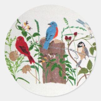 Birds Classic Round Sticker