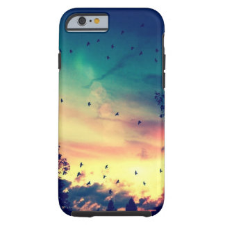 Birds colorful sky nature scenery tough iPhone 6 case