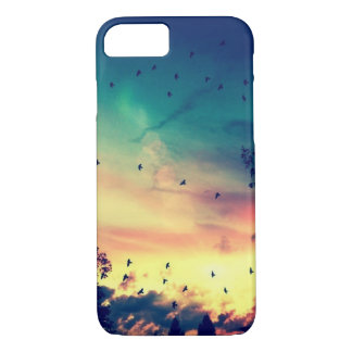 Birds colorful sky nature scenery iPhone 7 case