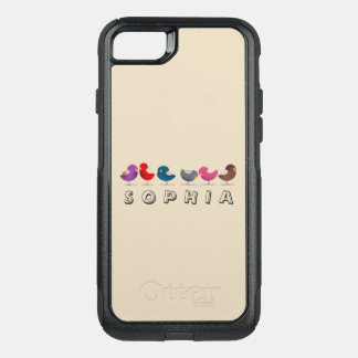 Birds Cute Cartoon Colorful Bright Personalized OtterBox Commuter iPhone 8/7 Case