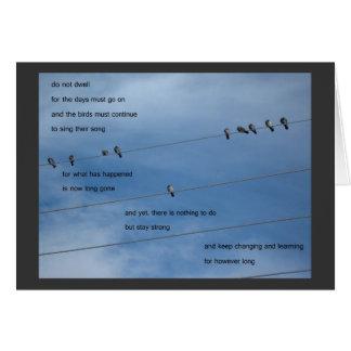 birds do not dwell card