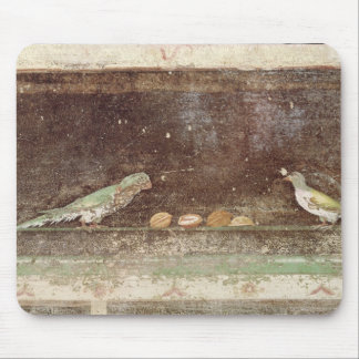 Birds eating nuts mouse mat