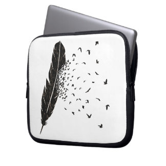 Birds Erupting of a Feather Laptop Sleeve