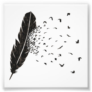 Birds Erupting of a Feather Photo Print