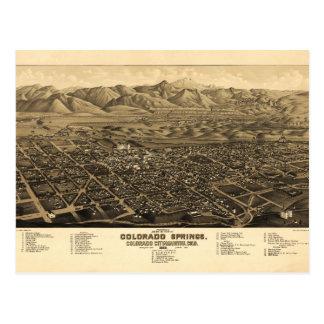 Bird's Eye View Colorado Springs, Colorado (1882) Postcard