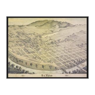 Bird's Eye View El Paso El Paso County Texas 1886 Stretched Canvas Prints