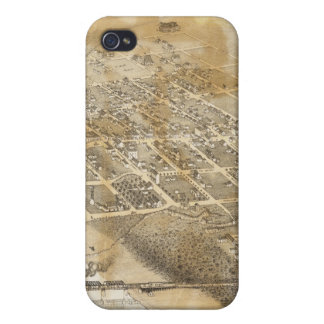 Bird's Eye View Map of Eagle Pass Texas in 1887 Cases For iPhone 4