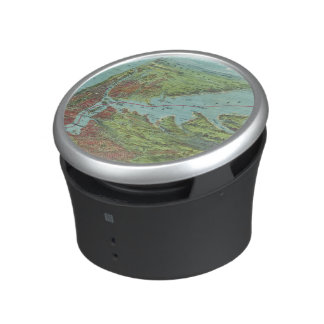 Birds Eye View Map Of New York And Vicinity Bluetooth Speaker