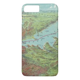 Birds Eye View Map Of New York And Vicinity iPhone 8 Plus/7 Plus Case