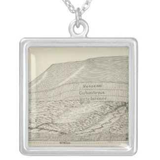Bird's eye view of a part of the Uinta Uplift Silver Plated Necklace