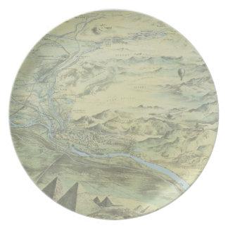 Bird's Eye View of Cairo Plate