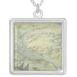 Bird's Eye View of Cairo Silver Plated Necklace