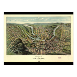 Bird's eye view of Cumberland Maryland (1906) Postcard