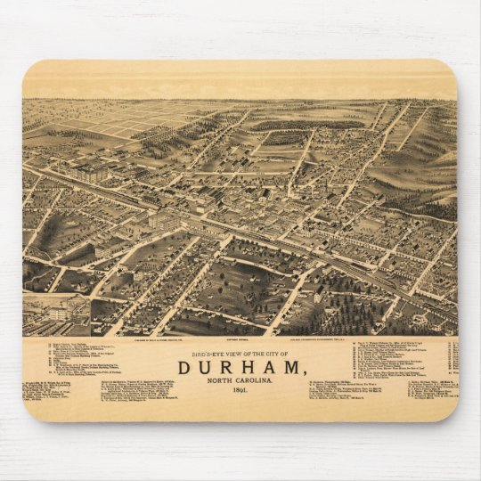 Bird's-eye view of Durham, North Carolina (1891) Mouse