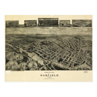 Birds eye view of Garfield, New Jersey (1909) Postcard