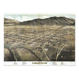 Bird's eye view of Leadville, Colorado (1879) 14 Cm X 19 Cm Invitation Card