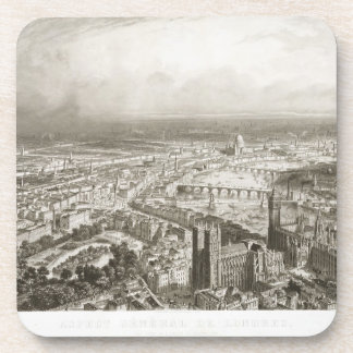 Bird's Eye View of London from Westminster Abbey, Coaster