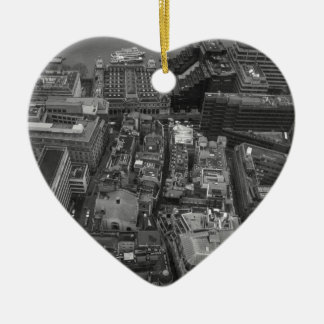Bird's Eye view of London, UK Christmas Ornament