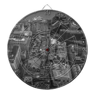 Bird's Eye view of London, UK Dartboard